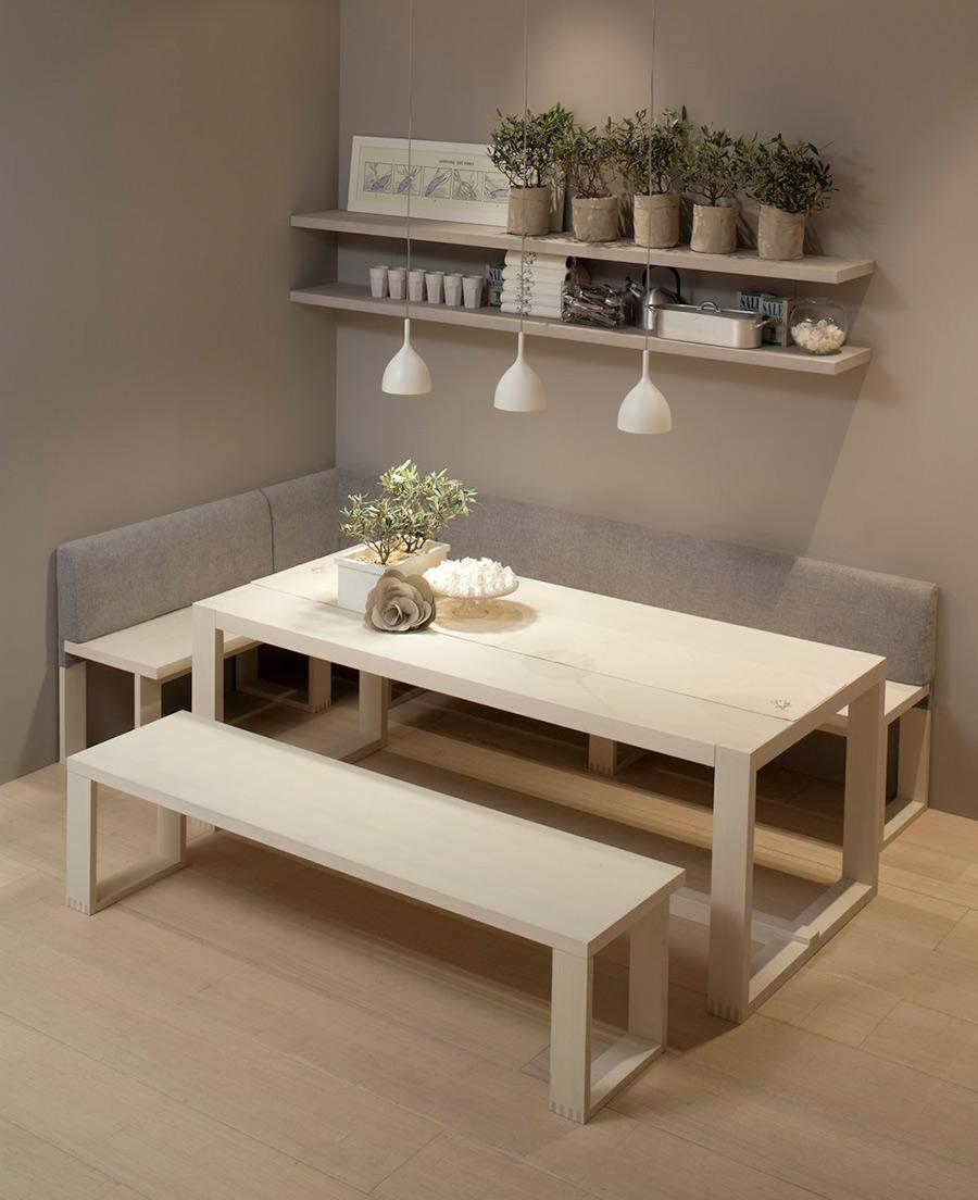 Mesas sillas y bancos que transformar n tu cocina - Banco rinconero para cocina ...