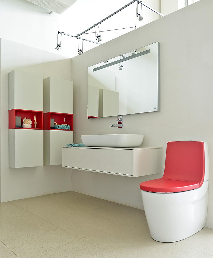 Muebles para ba o sanitarios ba eras y losas - Muebles de bano rojos ...